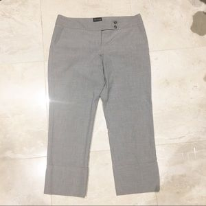 Light Gray Cuffed Capris